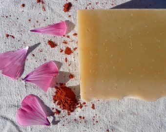 Floral soap, rose soap, handmade, palm free, mother gift, summer, vegan, organic soap, cold process soap