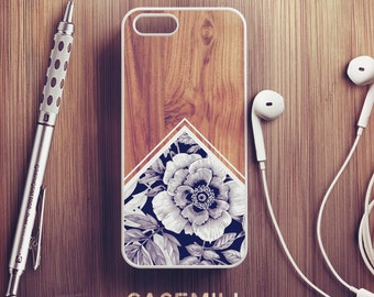 Wood Floral iPhone 6 Case iPhone 6s Case iPhone 6 Plus Case iPhone 6s Plus Case iPhone 5s Case iPhone 5 Case iPhone 5c Case