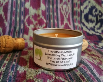 Cappuccino Mocha Scented Soy Candle 6 oz.