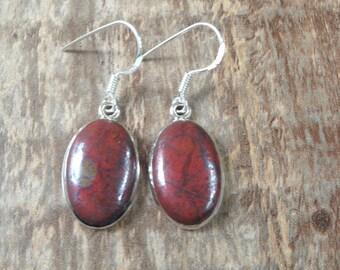 925 sterling silver earrings / Chrysocolla Cuprite gemstone earrings
