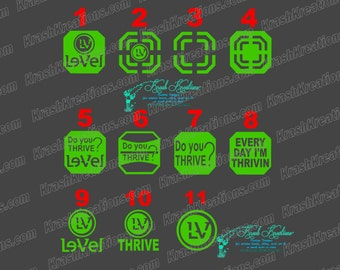 Thrive patch decal, GLITTER color, Do you thrive, Level window decal. GLITTER
