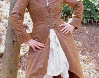 Long Steampunk-Style Costume Coat