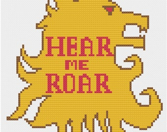 House Lannister Cross Stitch Pattern