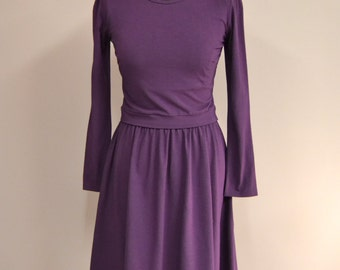 Breastfeeding Dress, Nursing Dress in Purple,  Custom Color Nursing Clothes, Nursing Dress for Photo Shoot, Breastfeeding Nursing Cover Up