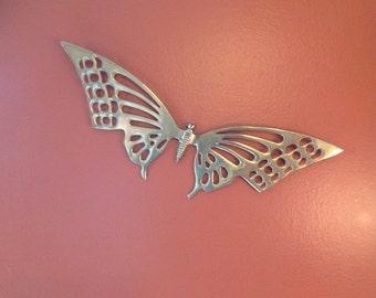 Wall ornament brass Butterfly 1980.