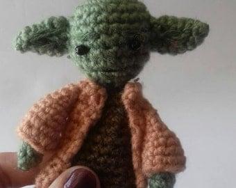 Yoda amigurumi puppet