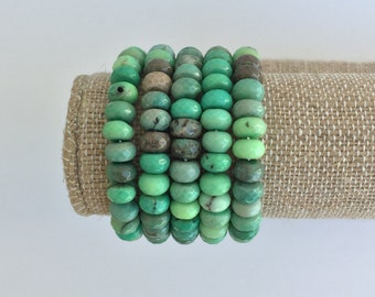 Chrysoprase Bracelet (listing is for 1 bracelet, not the stack pictured)
