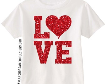 Love Glitter Youth Tee