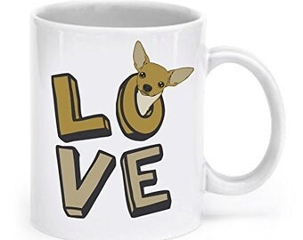 Chihuahua Coffee Mug - Chihuahua Love - Chihuahua Mug - Chihuahua Coffee Cup