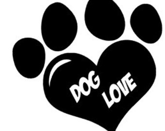 Dog love sticker