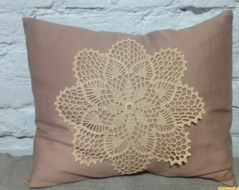 Crocheted decor pilow case