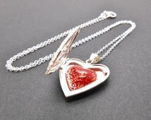 Memorial, Hair,Silver Plated Heart Locket Jewellery and 20 inch Sterling silver chain