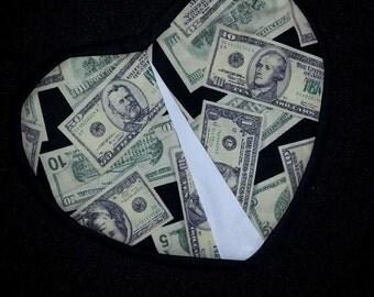 Potholder - money, money, money
