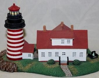 "The Danbury Mint "" West Quoddy Head Lighthouse"" 1992 W/ COA"