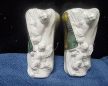 Accents Unlimited/Wee Crafts Two  sets of two Angels Decorations plaster