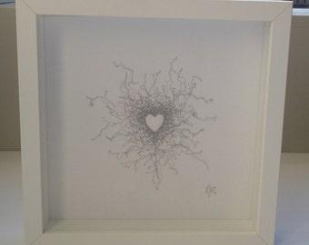Framed Embroidered Heart