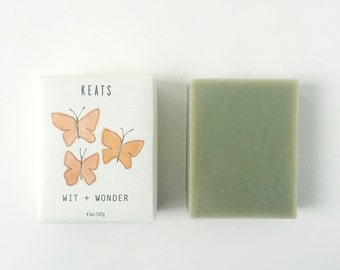 Wit + Wonder. French Green Clay + Rosemary Soap. All Natural, Organic, Vegan, Clay Soap.