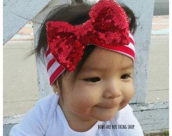 BEDAZZLED bow headband