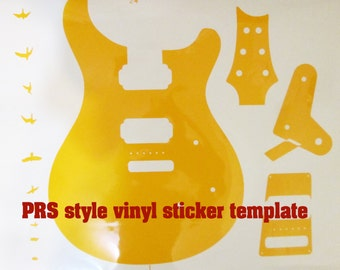 PRS guitar body, PRS routing template for guitar building, Vinyl sticker for guitar building, project guitar supplies
