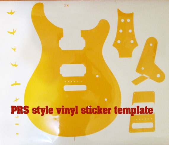 guitar cut out template - prs guitar body prs routing template for guitar building