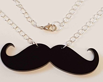 Moustache Necklace - Acrylic