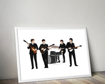 The Beatles Line up Minimal Style