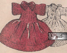 PDF 8-Inch Doll's Dress Knitting Pattern Ginny Betsy McCall Instant Download