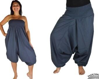 Plain Harem Pant Cotton grey