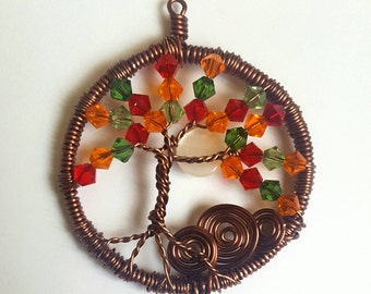Swarovski Autumn Tree Pendant