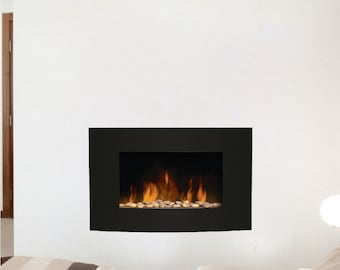 Fireplace Decal, Fireplace Wall Decal, Living Room Fireplace Wall Design,  Living Room Wall Murals, Fireplace Mural, Fire Wall Decor, s09