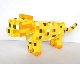Minecraft plush Ocelot made of felt (unofficial)