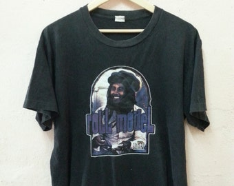 "Vintage 90s Bob Marley ""Roll Model"" T-shirt Singer-songwriter / Reggae"