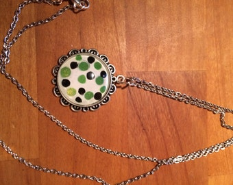 Dotted White Pendant