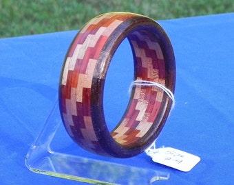 Handcrafted Segmented Bangle Bracelet