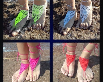 Bulk purchases Wedding Barefoot Sandal 12 color, Lace Barefoot Sandal, Barefoot Anklet, Foot Jewelry, Wedding Accessories