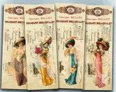 75% OFF SALE Pretty Ladies - Digital vintage bookmark B018 collage sheet printable download women digital image fashion collage invoice