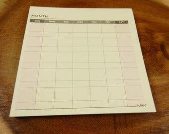 Mini Monthly Planner, Desk Planner, Notepad Organiser, Desktop Planner, Monthly Calendar