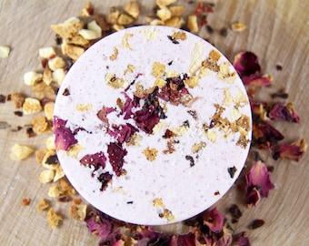 Orange Peel + Rose Bath Bomb | Organic Bath Bomb | All Natural Bath Bomb | Rose Bath Bomb | Orange Bath Bomb | Floral Bath Bomb