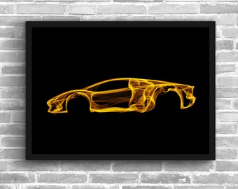 Lamborghini Aventador Lamborghini Art Wall Art Supercar Man Cave Gift For Him Automotive Art Aventador Art Car Art Home Decor Lambo Décor