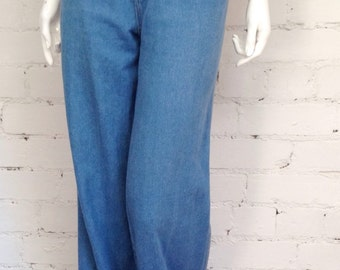 Vintage 70's high waisted flare jeans