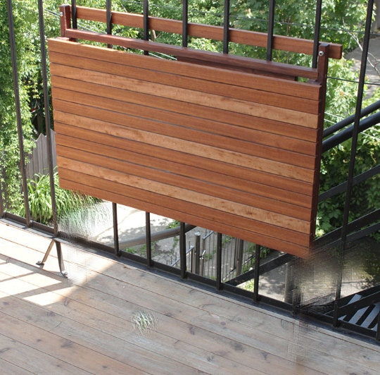 balcony foldable table exterior wood deck table outdoor. Black Bedroom Furniture Sets. Home Design Ideas