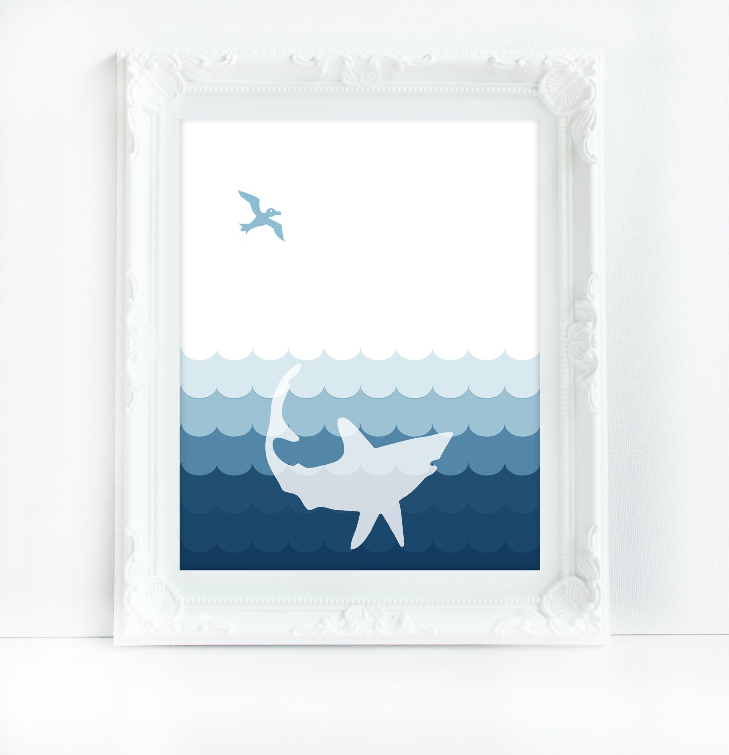 Grey And Blue Shark Grey Blue Bathroom Decor Shark Art