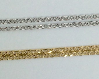 14K Yellow or White Gold Foxtail Chain