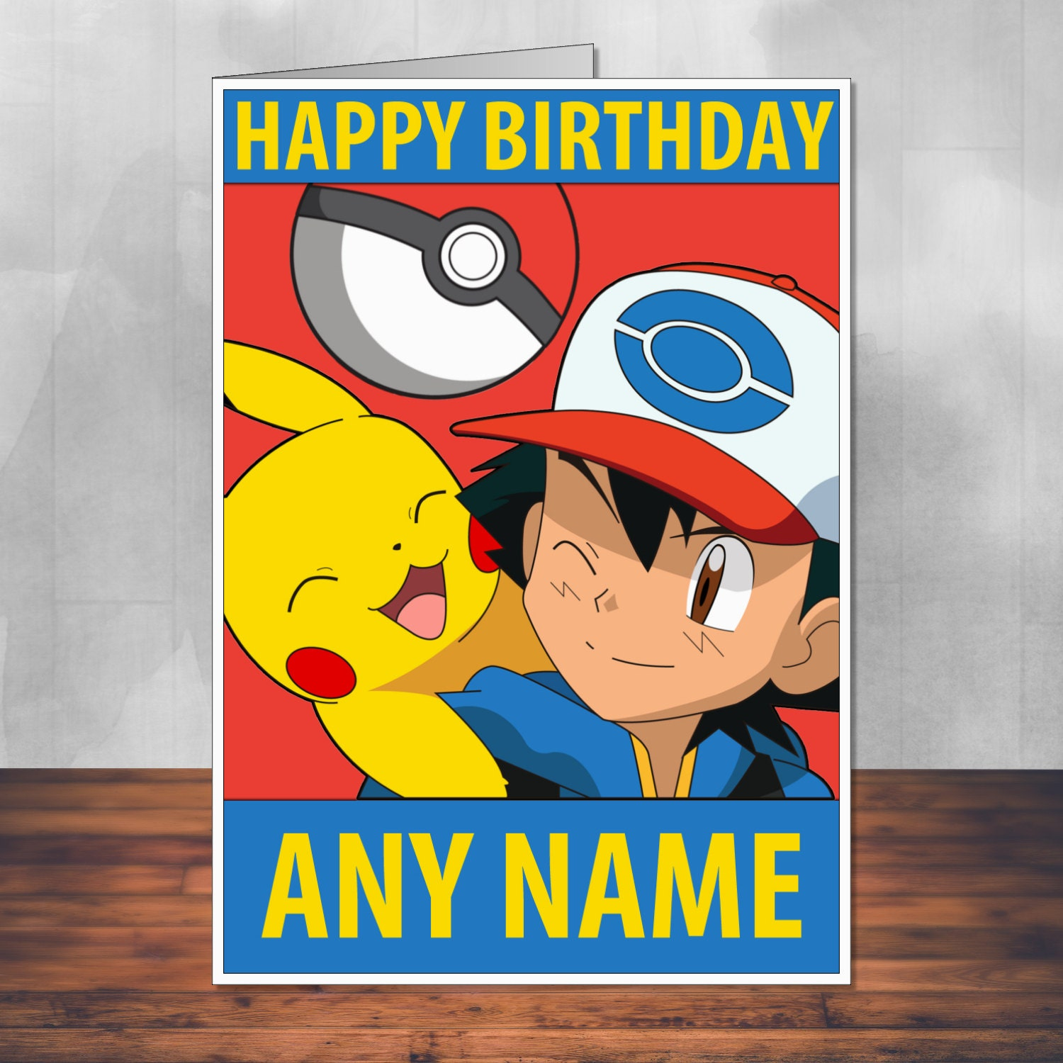 Trust image with pokemon birthday card printable