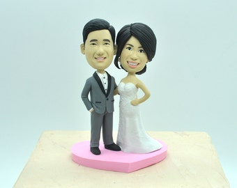 Unique wedding cake topper, personalized cake topper, Bride and groom cake topper, Mr and Mrs cake topper