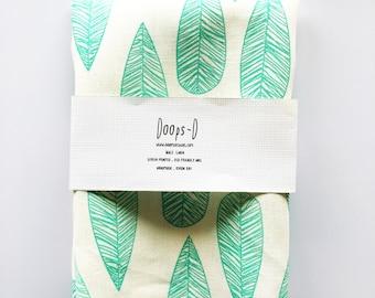 Screen Printed Bottlebrush Leaf 100% Linen Fabric - Fat Quarter 50 cm x 70 cm