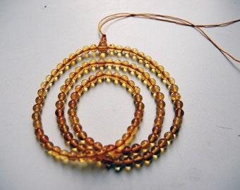 Meditation: 108 baltic amber mala for meditation (size Ø5 colour 3), buddhist meditation, guru bead, 108 bead mala