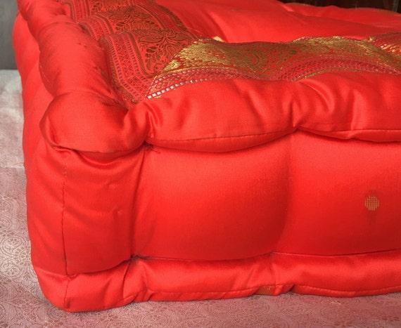Redfloor cushion meditation pillow floor sitting by TaraDesignLA