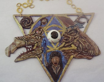 Dark Crystal window hanger - sun catcher
