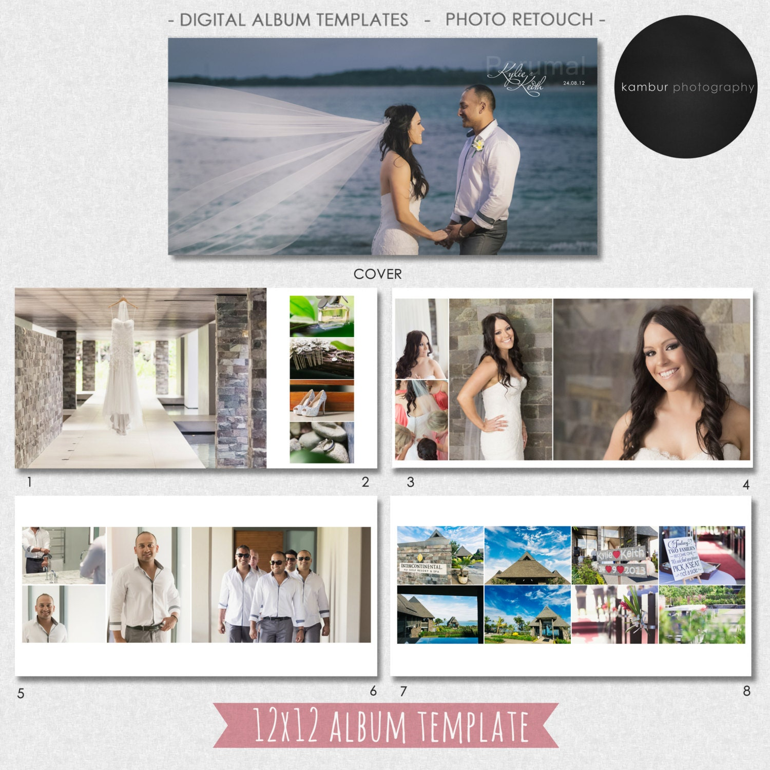 Photo Album Examples: 12X12 (40 Pages), PSD, Wedding Album Template